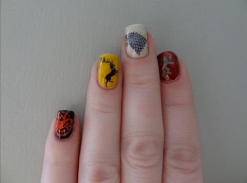 Be creative with your nail polish designs