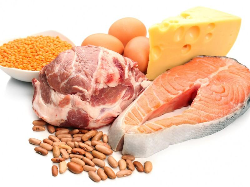 Various types of proteins