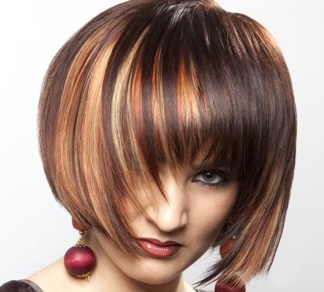 Woman with hair highlights