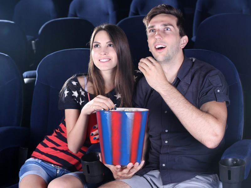 Couple watching movie
