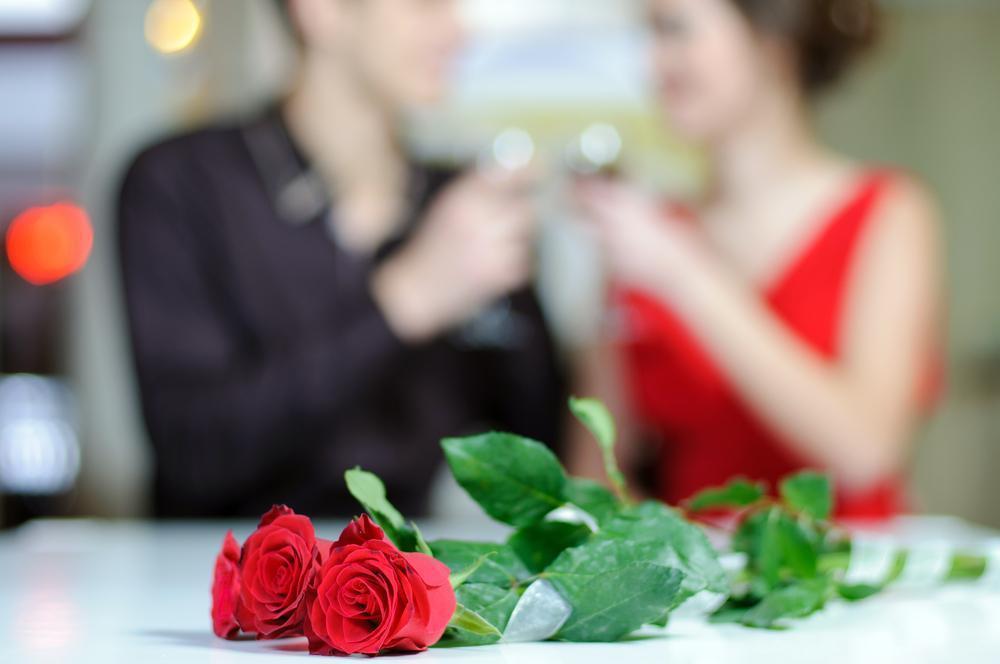 Couple enjoying a romantic date.