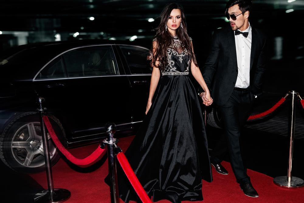 celebrity couple on the red carpet