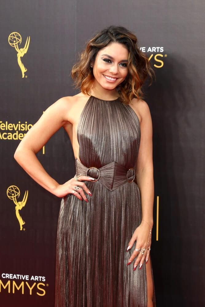 vanessa Hudgens with short, wavy hair