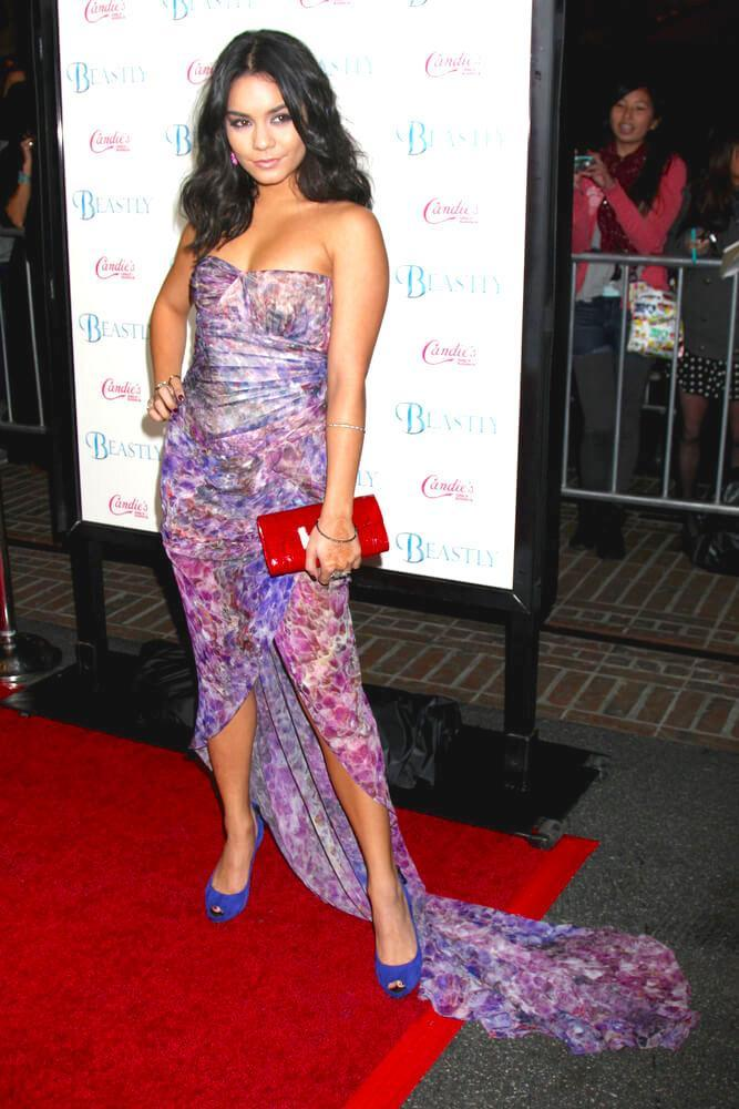 vanessa hudgens in julien macdonald dress
