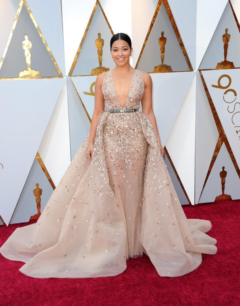 Gina Rodriguez at the 90th Academy Awards