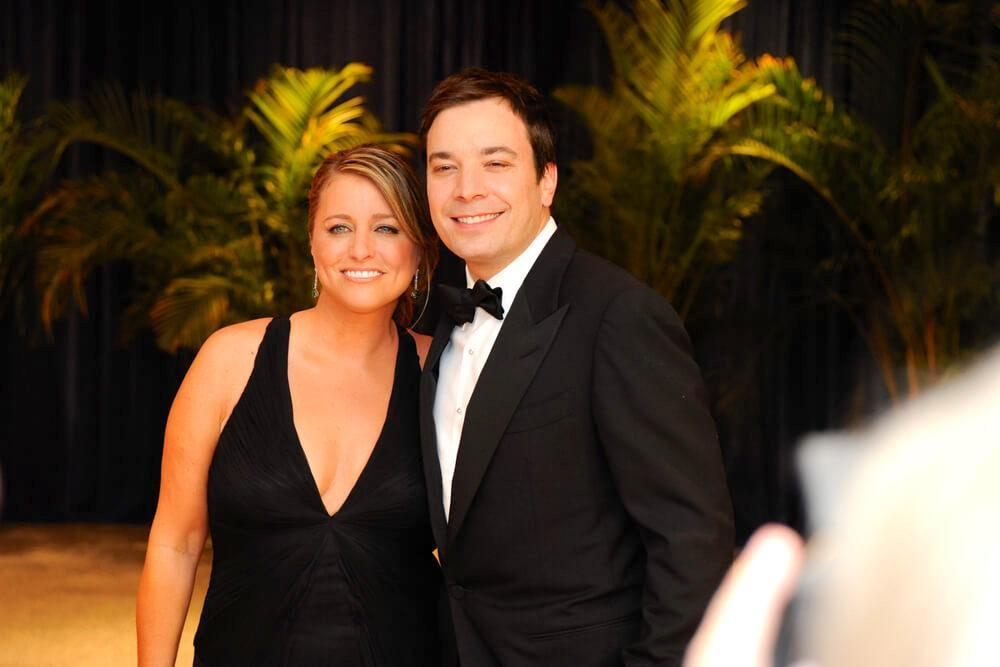 WASHINGTON MAY 1 - Jimmy Fallon and wife Nancy Juvonen arrive at the White House Correspondents Association Dinner May 1, 2010 in Washington, D.C.