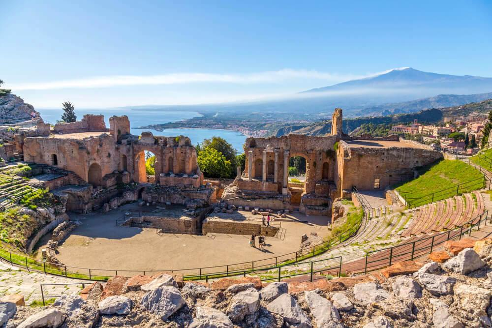 Ancient Greek Theatre in Sicily, Italy