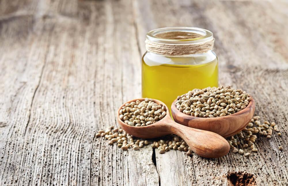Hemp seeds with hemp seed oil