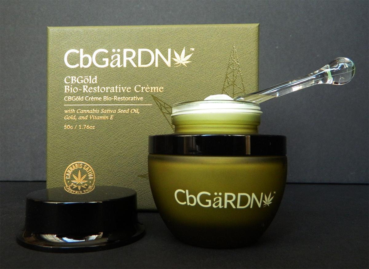 CbGaRDN cream in jar with applicator inside
