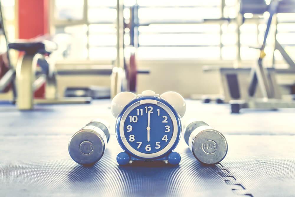 Clock at gym