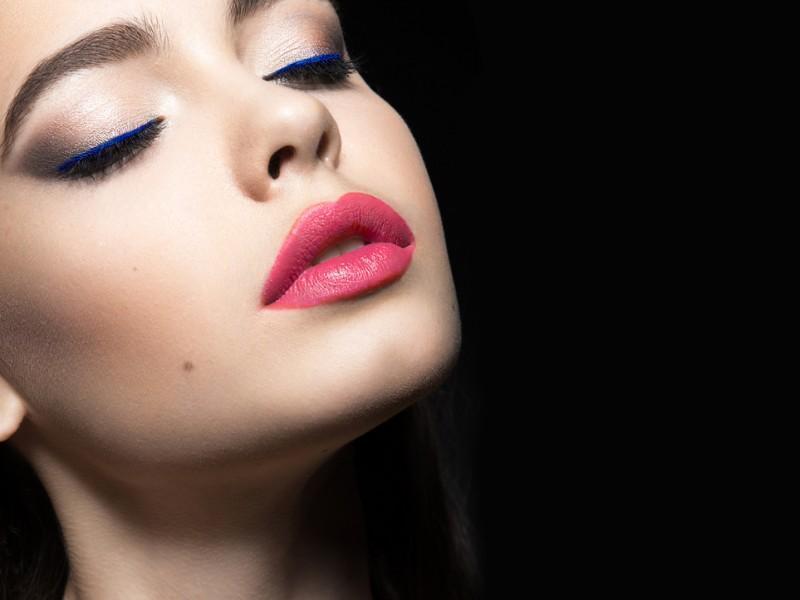 Woman with beautiful lips