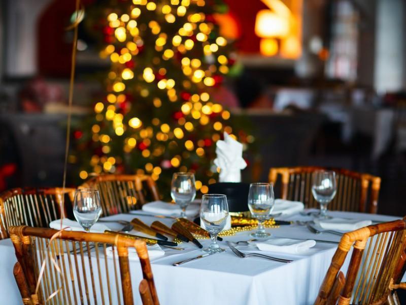 Christmas restaurant.