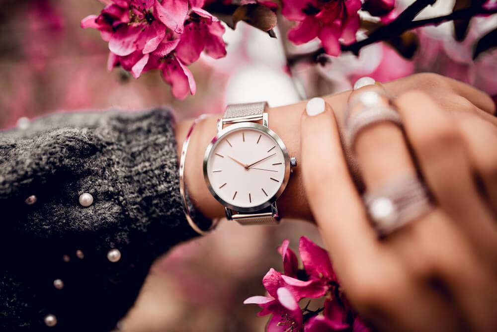 Watch on woman's wrist